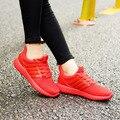 2016 Moda Otoño Invierno Mujeres Zapatos Causales Moda Mujeres Pisos Transpirable Luz Suave zapatos de deporte mujer