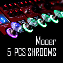 Mooer SHROOMS 5pcs Footswitch Topper Candy Plastic Bumpers Guitar Accessories Guitar Effect Pedal Protector(China)