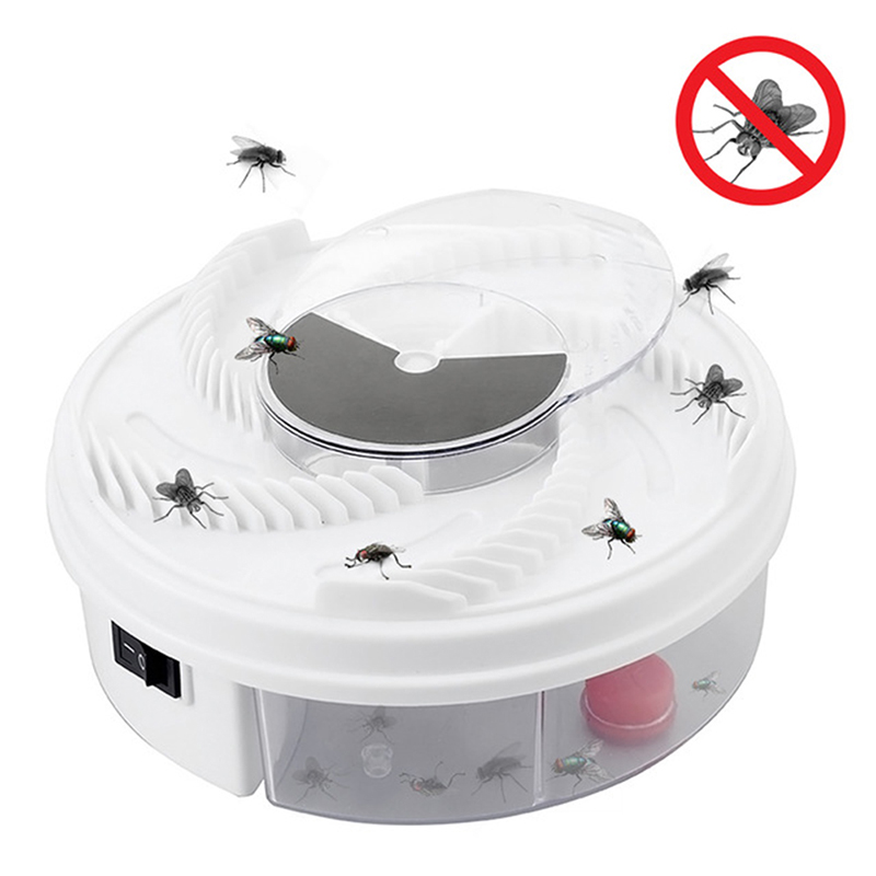 New Electric Effective Fly Trap Pest Device Insect Catcher Automatic Flycatcher Fly Trap Catching Artifacts Insect Trap Usb Plug