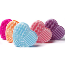 2019 New Hot Silicone Heart Shape Fashion Egg Cleaning Glove Makeup Washing Brush Scrubber Tool Cleaners