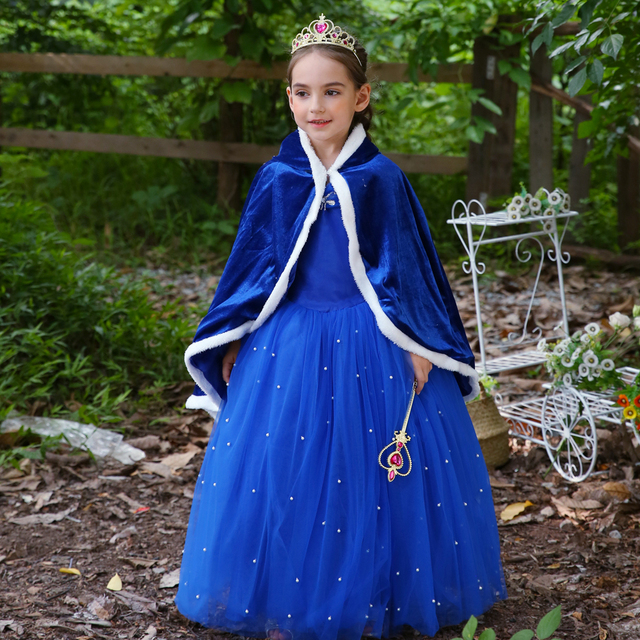 c4ea6755f53ac US $10.0 |2018 Elsa long Ball Gowns Children Role play Costume Princess  Cinderella Girls Dress Christmas Costumes Party Vestidos-in Dresses from ...