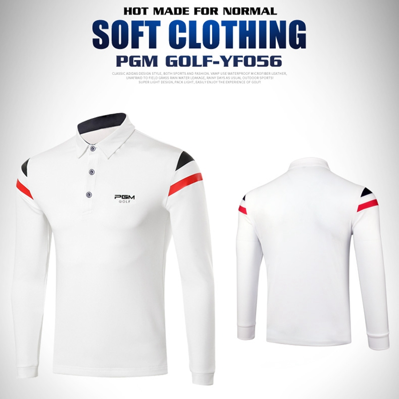 PGM Mens Winter Spring Autum Golf Apparel Workout Shirt, GOLF Mens style shirts men long sleeve Shirt men Fitted DriFit Shirt ...