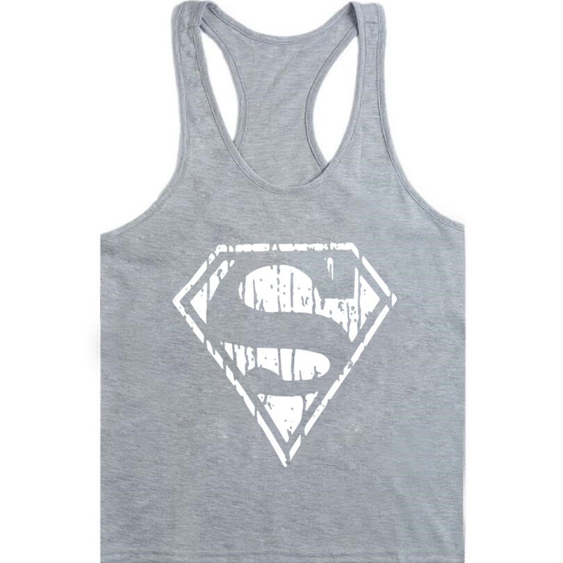 0004ea2d4d2c87 Summer Style Superman Captain America Men s Muscle Fitness Tank Top Gold  Stringer Singlet Crime Male Bodybuilding Tanks Vest
