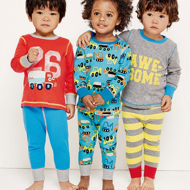 3ed3cfa58975 Autumn Spring Boys Pajamas Long Sleeve Cotton Pajamas Sets