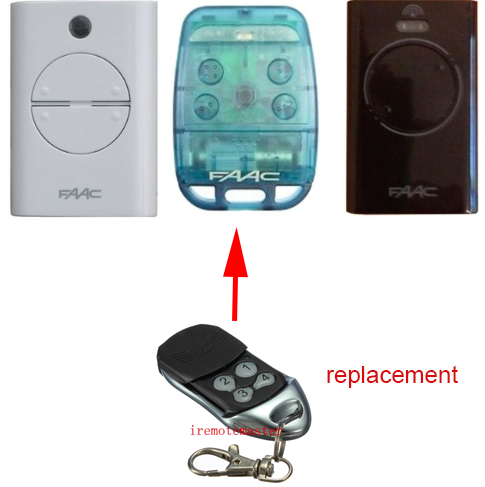 FAAC XT2/XT4/TE4433H/787452/433LC replacement remote Rolling code 433.92 mhz