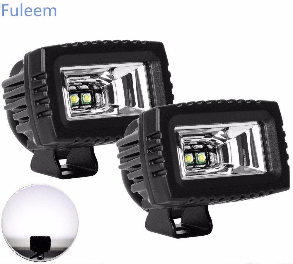 Fuleem 2PCS 3inch High Power 6000K LED Work Light Pods Off-road Driving Flood Lamp For Jeep suv atv