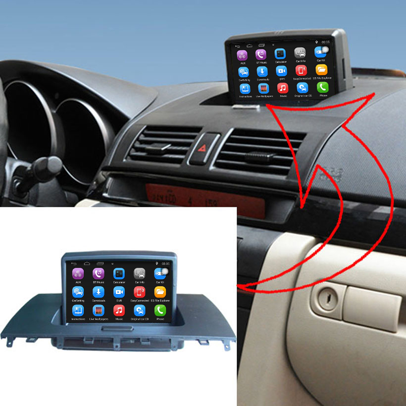 android car media player for for mazda 3 m3 2004. Black Bedroom Furniture Sets. Home Design Ideas