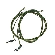 30lbCarp рыболовная леска готовая привязанная hooklink лидер 1 м с спиннером быстрая Поворотная оплетка кевларовые волосы