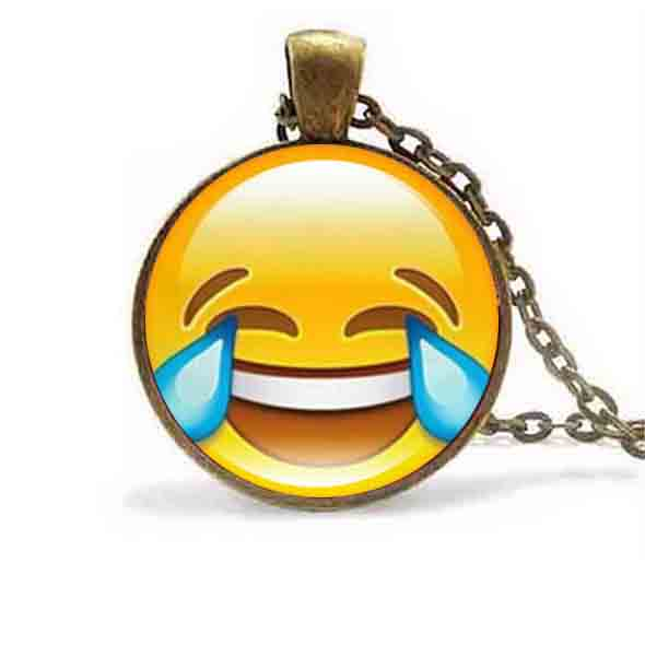 18 styles emoji smiley face pendant necklace glass cabochon silver 18 styles emoji smiley face pendant necklace glass cabochon silver chain necklaces for women jewelry birthday party funny gift in pendant necklaces from aloadofball Image collections
