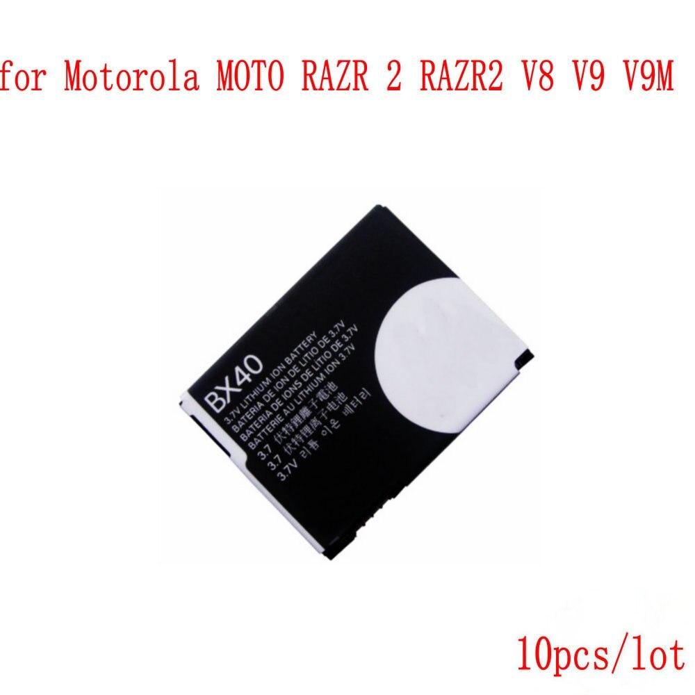 10 pz/lotto di Alta Qualità 740 mAh batteria per Motorola MOTO RAZR 2 RAZR2 V8 V9 BX40 V9M Del Telefono Mobile