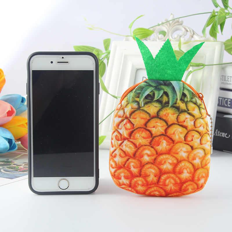 المرأة حقيبة صغيرة الحقيبة أفخم تغيير بطاقة الائتمان محفظة لطيف أفخم الفاكهة محاكاة عملة المحفظة للأطفال بطاقات مفاتيح سماعة حامل