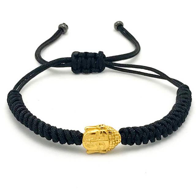 1pcs Fashion European Men Women Stainless Steel Gold Color Buddha Beautiful Custom Made Designer Pandora Bracelets