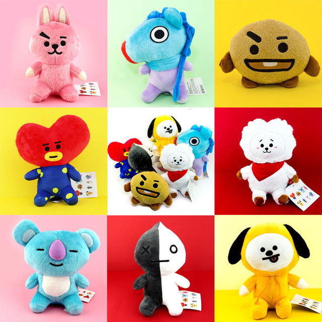 cb1081583dc0 BTS BT21 TATA SHOOKY RJ KOYA CHIMMY COOKY MANG Plush Toy Pillow Doll Cushion  New