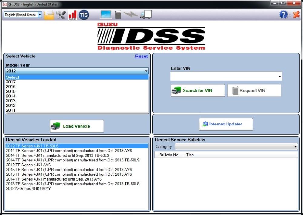 For Isuzu G-IDSS EXPORT 2020 - Isuzu Diagnostic Service System+keygen