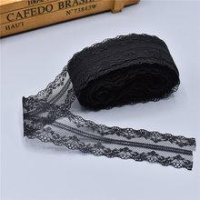 10 ярдов черный кружево, лента, тесьма 40 мм широкий кружевная бейка ремесла вышитые Чистая шнур для Вышивание украшения африканский кружево ткань