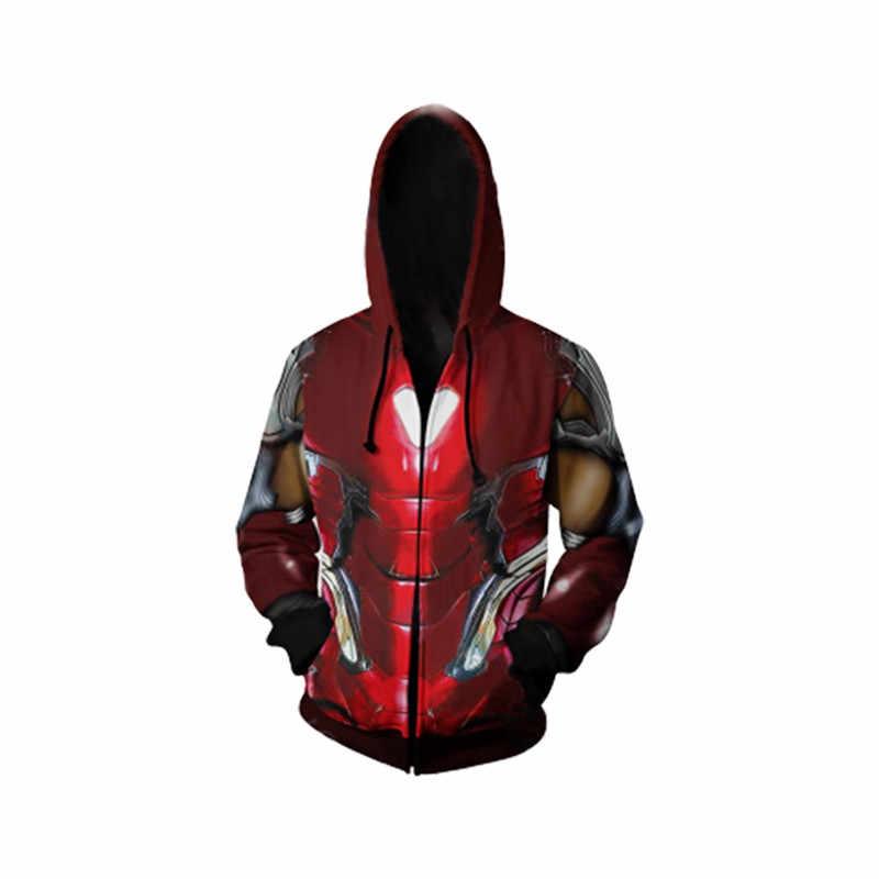 · スタークコスプレ服メンズ男性のパーカースウェット 3D プリントパーカージャケットコートストリート 5XL トップス