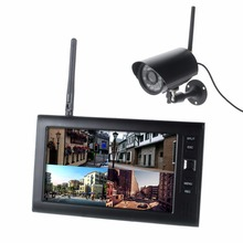 Inalámbrica Doméstica Sistema de Video Portero Timbre de La Puerta de Intercomunicación Teléfono de 7 Pulgadas TFT Color Monitor + 1 Kit de La Cámara