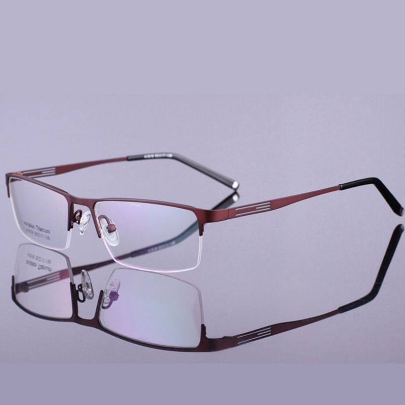 ჱSalurtto montura de gafas nerd hombres Titanium aleación ordenador ...