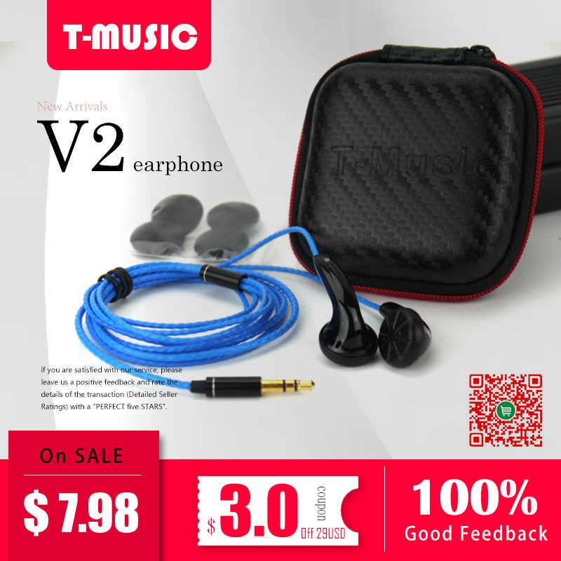 ¡Recomiendo! Nuevo Version2/Hifi t-music DIY auricular/3,5mm in-ear auriculares con micrófono