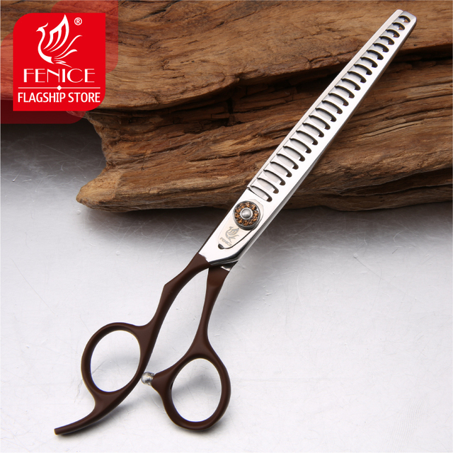 Professional JP440C pet grooming scissors Thinning Shears left-handed tools stainless steel JP440C 7 inch 7.5 inch