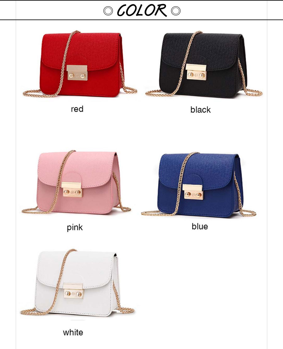 Women Bags PU leather Messenger Bag Clutch Bags Designer Mini Shoulder Bag Women Handbag white 18cm(l)*8cm(w)*14cm 26