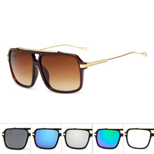 Brand Oversized Men mach one Sunglasses Women Flat Top Sun G