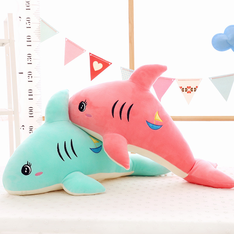 Jouet en peluche dollsfor cadeau enfants Explosion modèles dessin animé requin oreiller grande Simulation animaux marins en peluche jouets très doux pépère