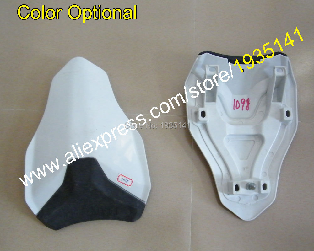 Hot Sales,White Pillion Seat Cover 1098 848 1198 For Ducati Motorcycle  ABS Plastic Optional Color Rear Cover Cowl 848 1098 1198 for ktm 390 duke motorcycle leather pillon passenger rear seat black color