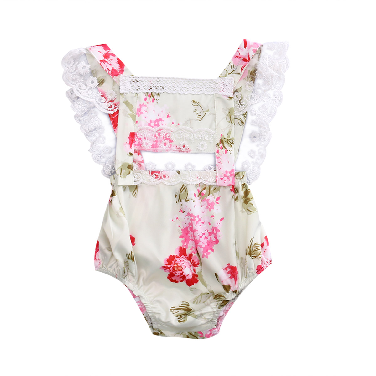 2017 Summer Floral Newborn Baby Girl Lace Romper Princess Girls Backless Hollow Out Peony Flower Jumpsuit Outfit Sunsuit Clothes newborn infant baby girl clothes strap lace floral romper jumpsuit outfit summer cotton backless one pieces outfit baby onesie