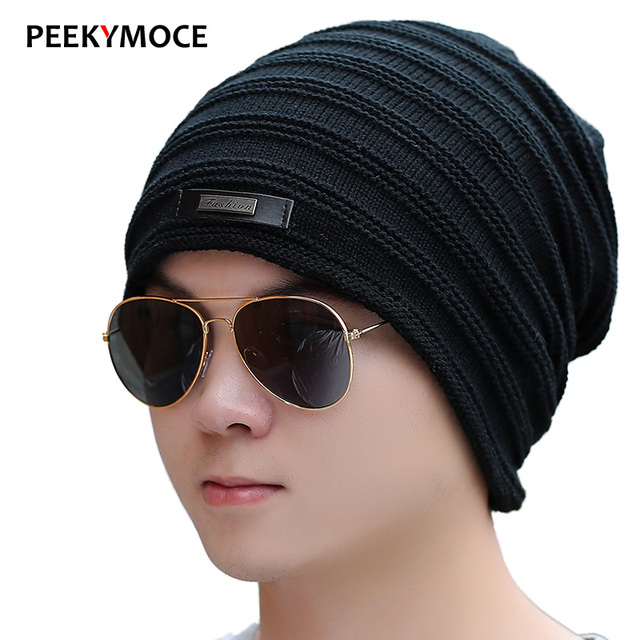 2017 New Winter Beanies Hats For Men Women Cap New Knitted Hat Female Skullies Fur Warm Masculino Casquette High Quality Hats