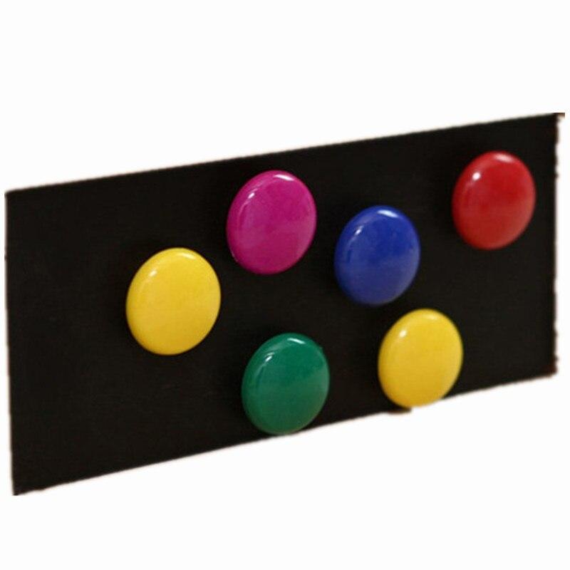 10Pcs Colorful Round Blackboard Whiteboard Fridge Magnetic Sticker Office School Blackboard Teaching Magnetic Sticker