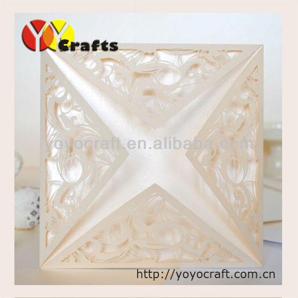ivory sea blue elegant swirls laser cut paper crafts cheap wedding, Wedding invitations