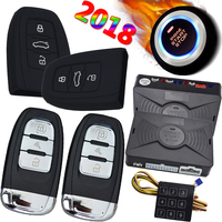 pke car alarm system with ignition start stop anti hijacking auto central lock unlock compatible with cardot gps tracking module