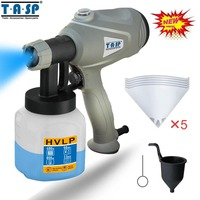 TASP MESG400M 220V 400W Electric Paint Spray Gun HVLP Sprayer For Painting With Adjustable Flow