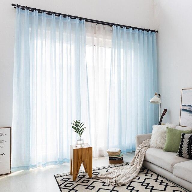 Rideaux Tulle solides décoratifs in mor | Rideaux Double couche pour la salle de séjour, Tulle doux pour fenêtres de cuisine personnalisées
