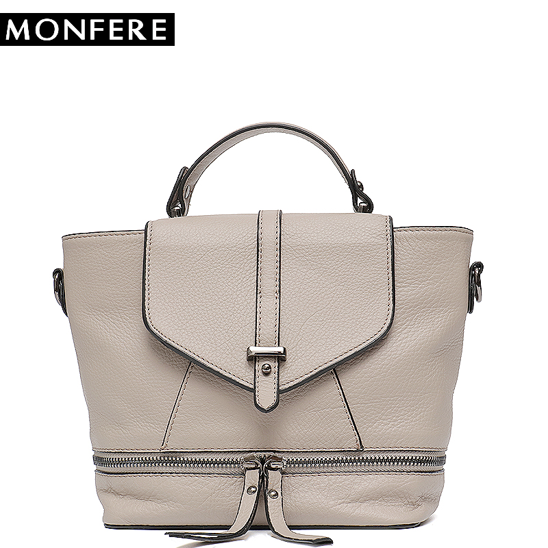 MONFERE Fashion Women s Leather Bag Small Cross body Bags Girl Cute Backpack  School Female Cover Flap Women Bucket Shoulder Bag 732cde47dbefb