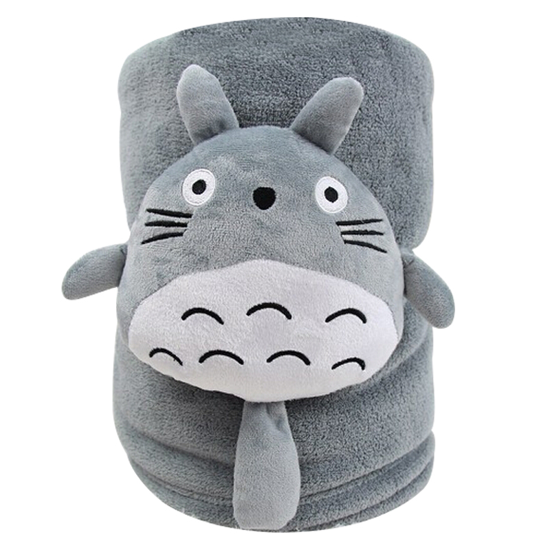New Popular TOTORO Plush BLanket Kawaii Stuffed Soft Comfortable Kids Gift Birthday Gift Home Decoration gift n home