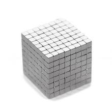 купить 125Pcs Powerful Rare Earth Neodymium Square Magnets Block Cube Educational Toy онлайн