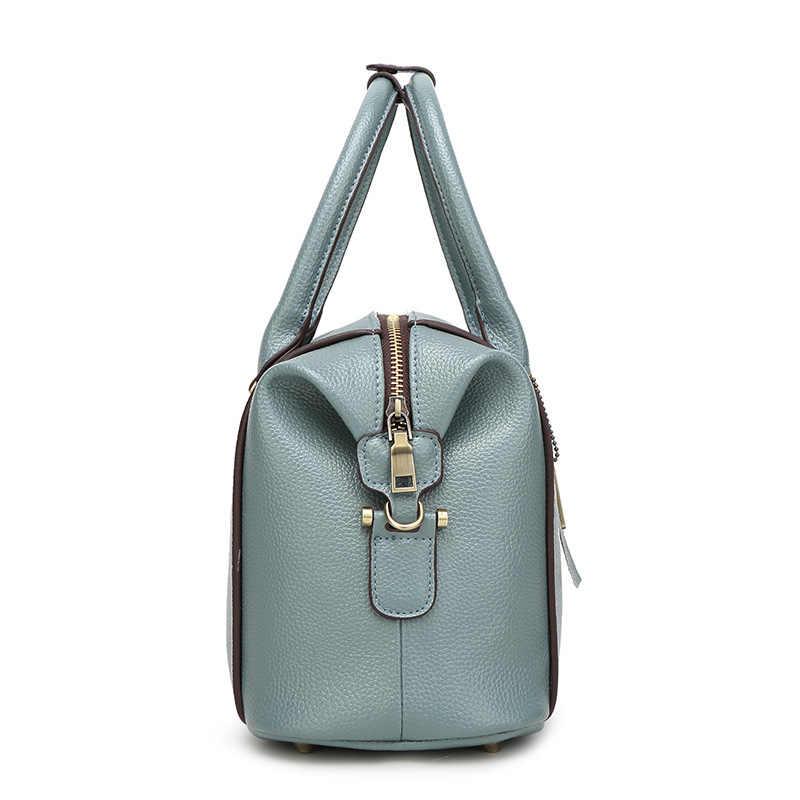 Luxus Marke Designer frauen Aus Echtem Leder Handtasche Patent Casual damen Umhängetaschen Für Frauen 2018 Schulter Kette Taschen X38