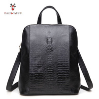 Raged Sheep Women Genuine Leather Backpack 3D Crocodile Women BackPack Daily Bags For Girls College Female