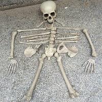 28PCS Simulation Human Bones Horror toys Halloween Skeleton Haunted House Escape Horror props Decorations 1 Bag of Bones