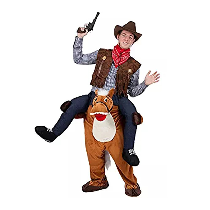 Cheval monter sur mascotte animaux Costumes fantaisie habiller Oktoberfest fête Cosplay Cowboy vêtements nouveauté noël vêtements Disfraz