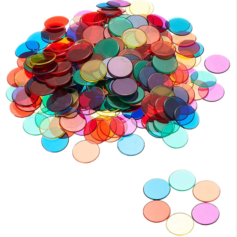 100Pcs/Bag Kids Toys Math Montessori Materials Baby Learn Count Match Early Educational Toys For Children Plastic Coin Toy