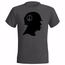 614374e7 VIETNAM SOLDAT SILHOUETTE DESIGN le T-SHIRT GUERRE ARMÉE LA PAIX AMÉRICAIN  PELOTON t-shirt hot nouvelle mode top livraison gratu.
