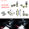 14pcs LED Canbus Interior Lights Kit Package For Audi A4 S4 B8 (2009-2015)