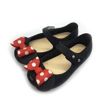 Dollplus/сандалии для маленьких девочек; новые модные пляжные сандалии с бантом для девочек; детская обувь; милая прозрачная обувь для девочек; 24-29