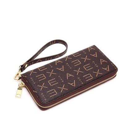 free shipping DHL top quality Ladies zipper Purse canves and real leather wallet