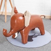 2019 Real Kruk Taburetes Modern Pufe Animal Pets Putting Designer Furniture Elephant Model Room Decoration Stool Wooden