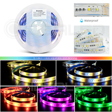 RGB+CCT Home Smart zigbee RGBCCT LED Strip Lights 12V RGB+Cold White+Warm White Changing Color 5m Waterproof 6 wire Full