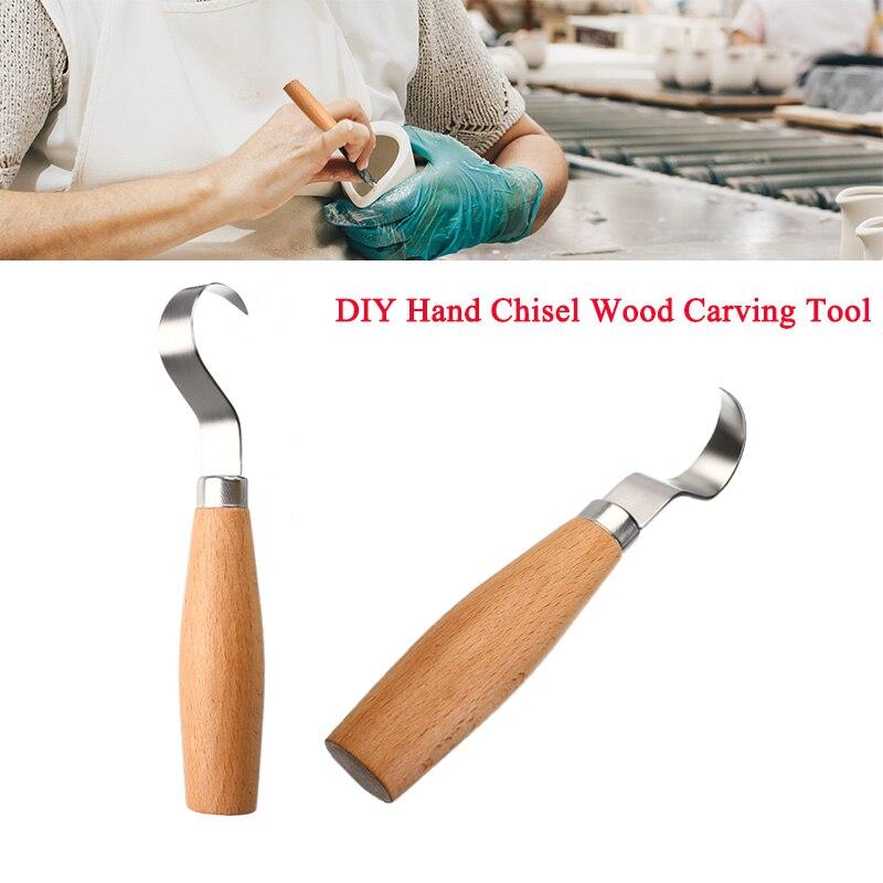 Новый резак для резьбы по дереву из нержавеющей стали, разделочный нож, инструменты для резьбы по дереву, скульптурные DIY Инструменты для из...